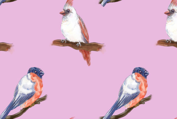 Print on Demand: Birds Song Pattern 2 Graphic Patterns By info.neilhubert