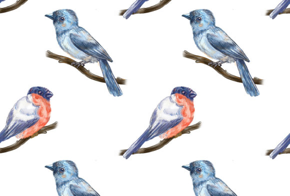 Print on Demand: Birds Song Pattern 4 Graphic Patterns By info.neilhubert