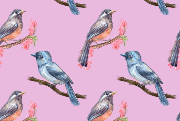 Print on Demand: Birds Song Pattern 8 Graphic Patterns By info.neilhubert