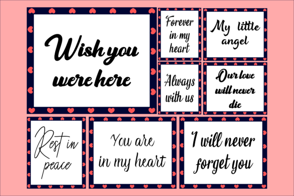Print on Demand: Bundle of Memorial Quotes Graphic Product Mockups By colorsplash
