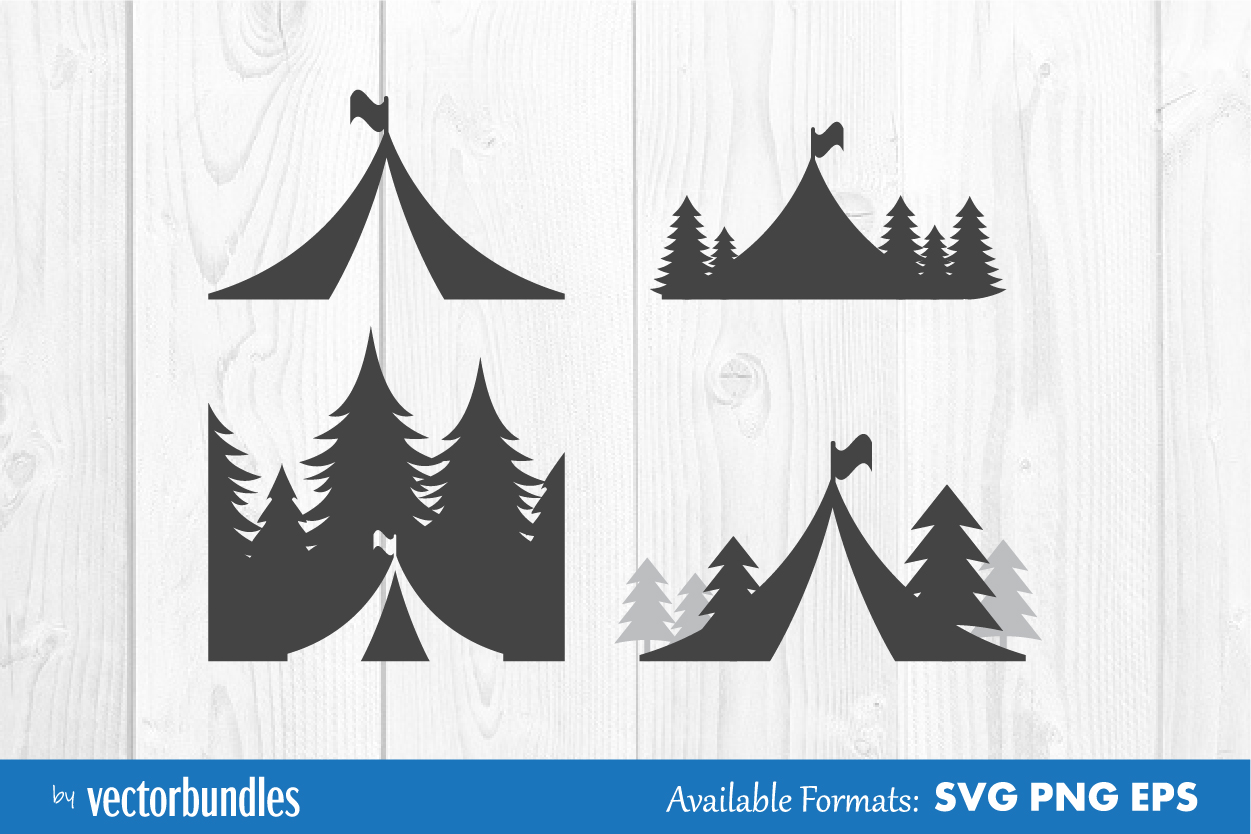 Download Free Camping Clip Art Graphic By Vectorbundles Creative Fabrica for Cricut Explore, Silhouette and other cutting machines.