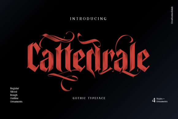 Print on Demand: Cattedrale Blackletter Font By creativemedialab - Image 1