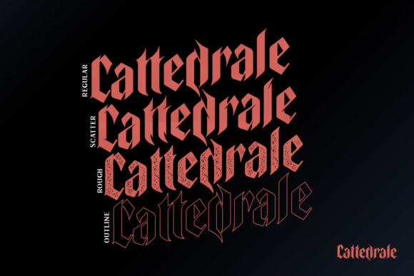 Print on Demand: Cattedrale Blackletter Font By creativemedialab - Image 5