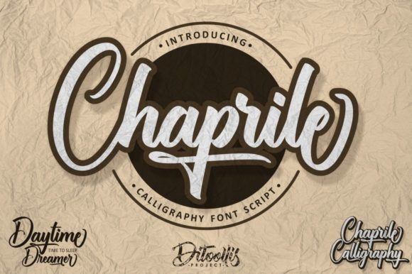 Print on Demand: Chaprile Script & Handwritten Font By Ditoollis Project - Image 1