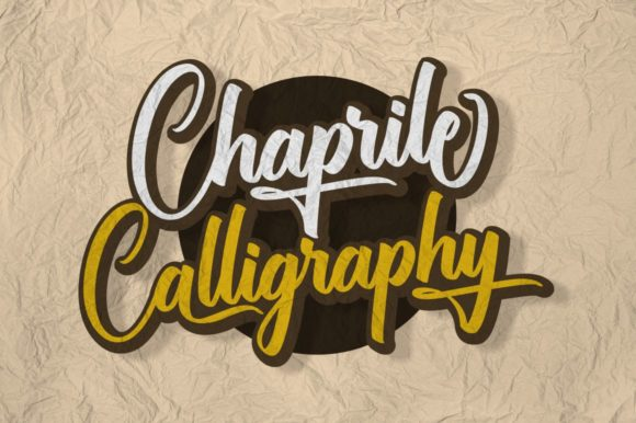 Print on Demand: Chaprile Script & Handwritten Font By Ditoollis Project - Image 3