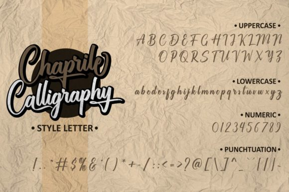 Chaprile Font Downloadable Digital File