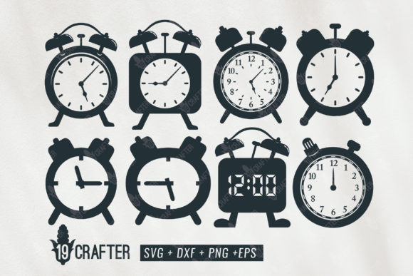 Download Free Classic Alarm Clock Bundle Grafico Por Great19 Creative Fabrica for Cricut Explore, Silhouette and other cutting machines.