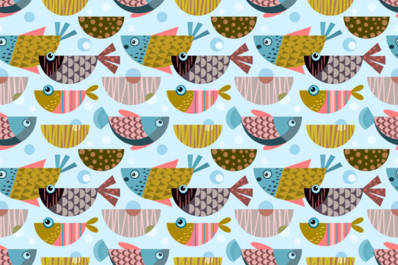 Colorful Tropical Design Fish Pattern Graphic Patterns By ranger262