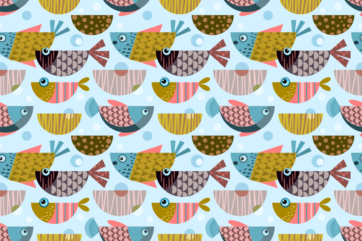 Download Free Colorful Tropical Design Fish Pattern Graphic By Ranger262 for Cricut Explore, Silhouette and other cutting machines.