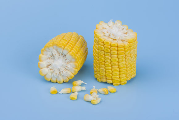 Corn on Blue Background Graphic Food & Drinks By Azman