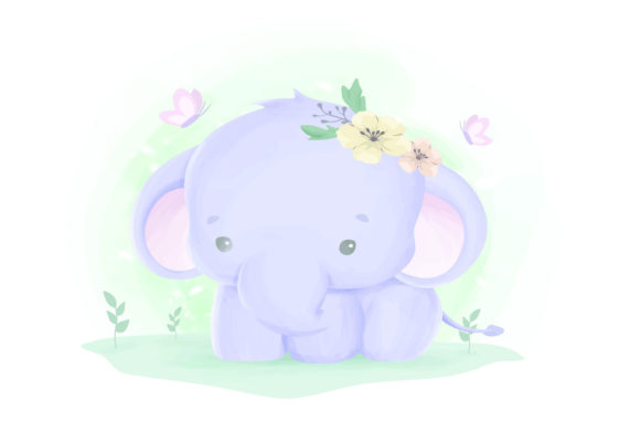 Print on Demand: Cute Animal 10 Graphic Illustrations By info.kankhem - Image 1