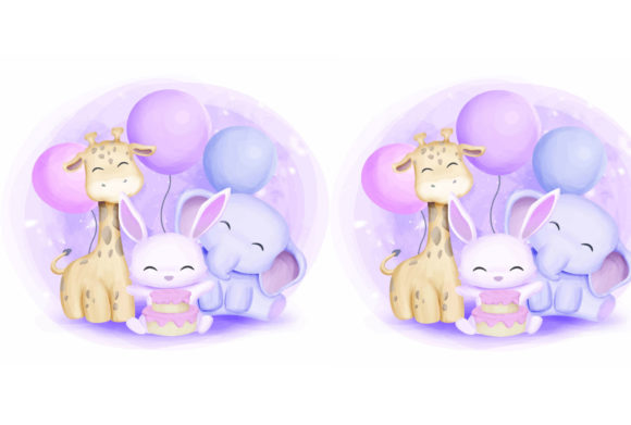 Print on Demand: Cute Animal 5 Graphic Illustrations By info.kankhem - Image 2
