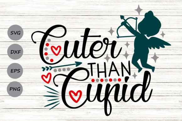 Download Free Cuter Than Cupid Graphic By Cosmosfineart Creative Fabrica for Cricut Explore, Silhouette and other cutting machines.