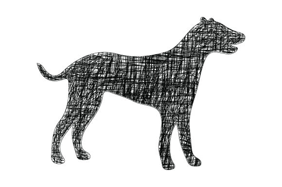 Print on Demand: Dog with Black Line Graphic Graphic Templates By curutdesign