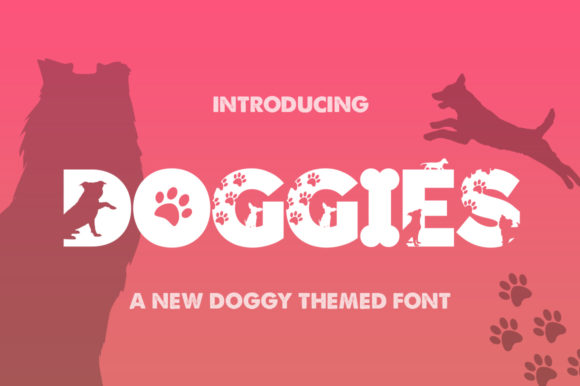 Print on Demand: Doggies Silhouette Display Font By Salt & Pepper Designs - Image 1
