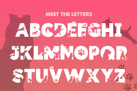 Print on Demand: Doggies Silhouette Display Font By Salt & Pepper Designs - Image 2