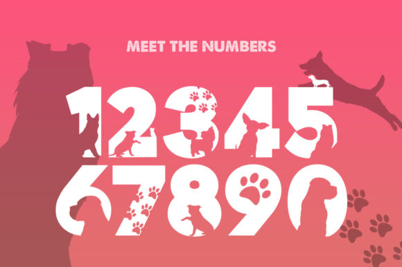 Print on Demand: Doggies Silhouette Display Font By Salt & Pepper Designs - Image 3