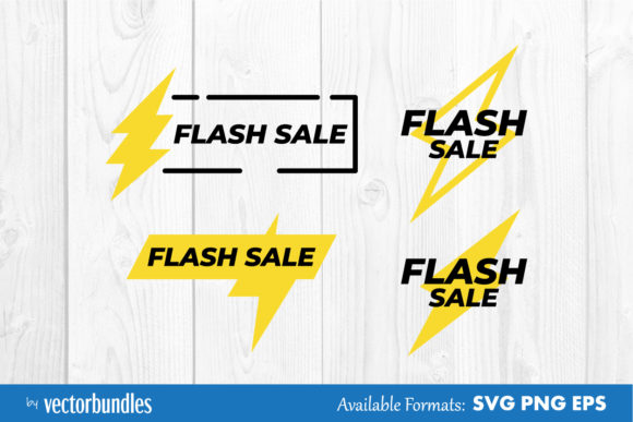 Download Free Flash Sale Clip Art Graphic By Vectorbundles Creative Fabrica for Cricut Explore, Silhouette and other cutting machines.