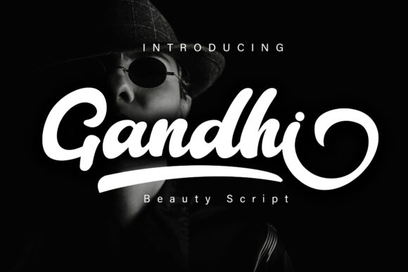 Print on Demand: Gandhi Script & Handwritten Font By Skiiller Studio