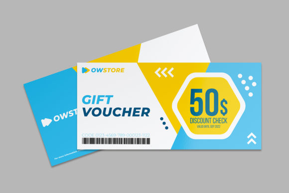 Print on Demand: Gift Voucher Card Template Vol.2 Graphic Print Templates By OWPictures