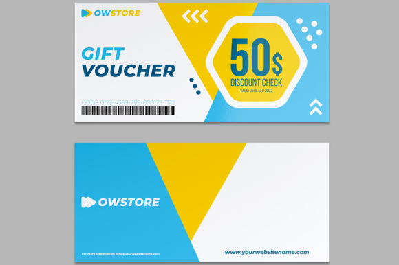Download Free Gift Voucher Card Template Vol 2 Graphic By Owpictures for Cricut Explore, Silhouette and other cutting machines.