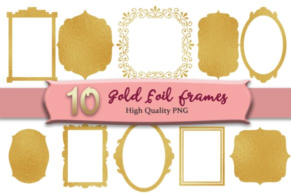 Print on Demand: Gold Frames Graphic Objects By MRN Digishop
