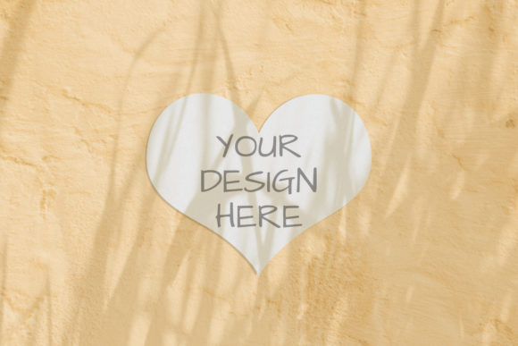 Print on Demand: Heart Valentine Modern Mockup with Herbs Graphic Product Mockups By Natalia Arkusha
