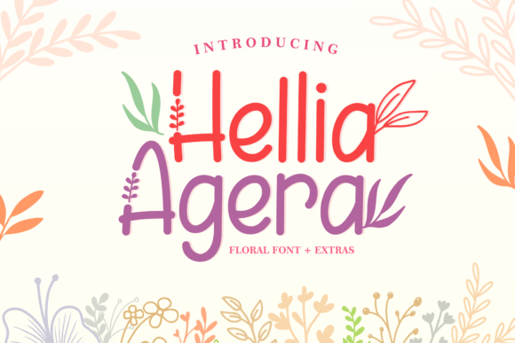 Print on Demand: Hellia Agera Display Font By Holydie Studio - Image 1
