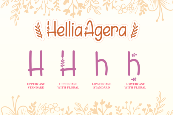 Print on Demand: Hellia Agera Display Font By Holydie Studio - Image 4