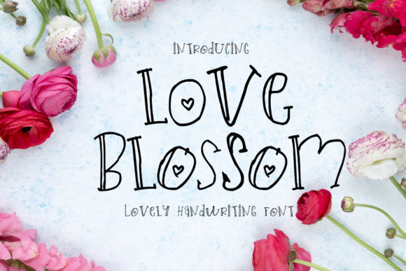 Print on Demand: Love Blossom Script & Handwritten Font By alulazaheera05