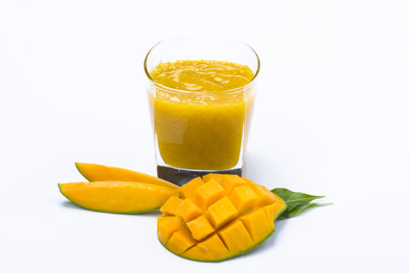 Mango Juice Isolated on White Background Graphic Food & Drinks By Azman