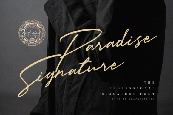 Print on Demand: Paradise Signature Script & Handwritten Font By Sameeh Media