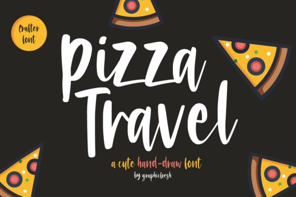 Print on Demand: Pizza Travel Script & Handwritten Font By Sameeh Media