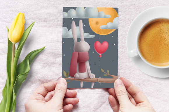 Print on Demand: Rabbits Love Story Clipart Set Graphic Illustrations By Architekt_AT - Image 3