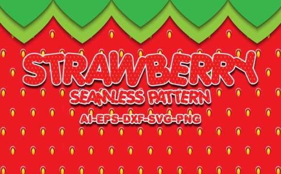 Print on Demand: Seamless Patterns Strawberry Graphic Patterns By Bayu Baluwarta