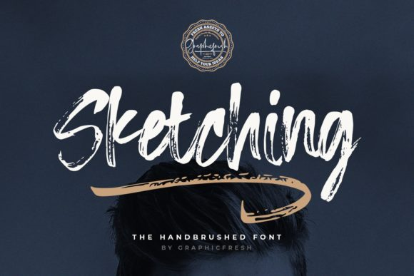 Print on Demand: Sketching Script & Handwritten Font By Sameeh Media - Image 1