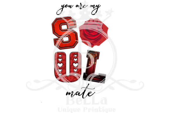 Download Free Valentine Words Illustrated Graphic By Bellauniqueprintique for Cricut Explore, Silhouette and other cutting machines.