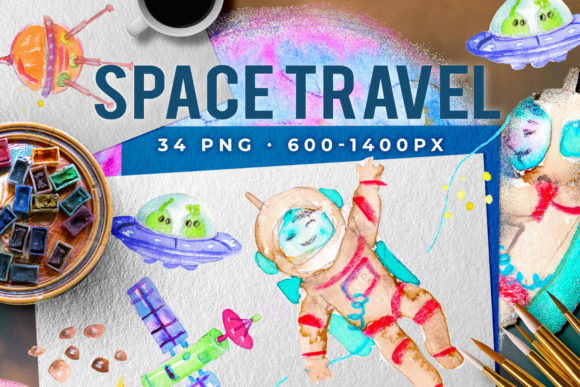 Download Free Space Travel Graphic By Ramandu Creative Fabrica for Cricut Explore, Silhouette and other cutting machines.