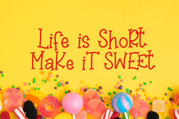 Print on Demand: Sweet Lollipop Display Font By dmletter31 - Image 3