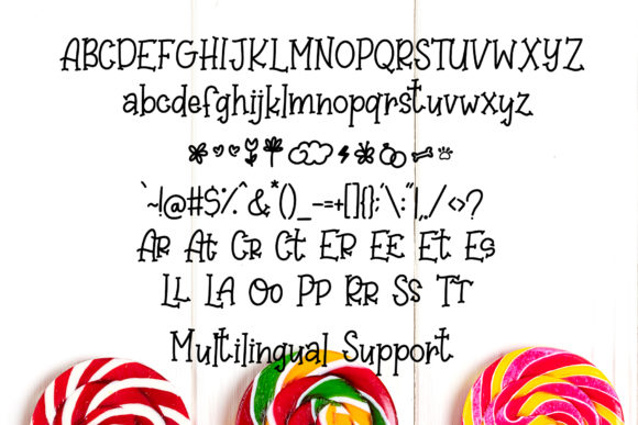 Print on Demand: Sweet Lollipop Display Font By dmletter31 - Image 7