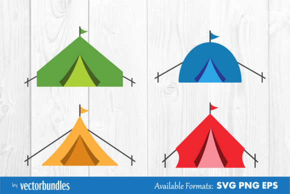 Download Free Tent Clip Art Graphic By Vectorbundles Creative Fabrica for Cricut Explore, Silhouette and other cutting machines.