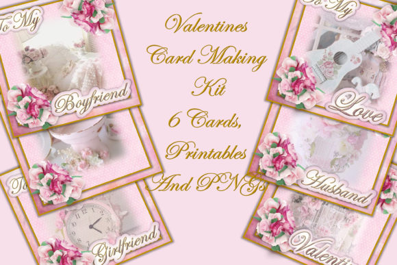 Download Free Valentine Cards Making Kit Graphic By The Paper Princess for Cricut Explore, Silhouette and other cutting machines.