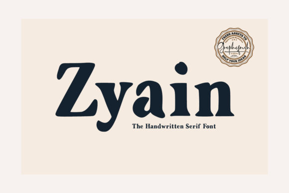 Print on Demand: Zyain Serif Font By Sameeh Media