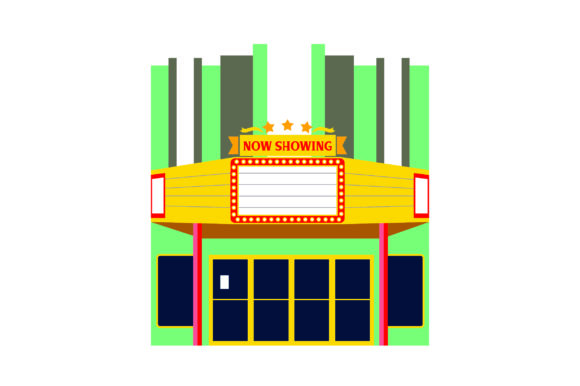 Old School Movie Theater Designs & Drawings Craft Cut File By Creative Fabrica Crafts