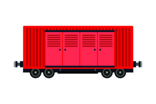 Train Boxcar with Doors Travel Craft Cut File By Creative Fabrica Crafts