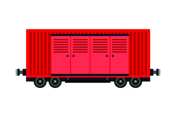 Download Free Train Boxcar With Doors Svg Cut File By Creative Fabrica Crafts for Cricut Explore, Silhouette and other cutting machines.