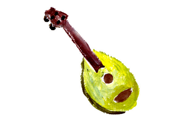 Ukulele in Gouache Style Music Craft Cut File By Creative Fabrica Crafts