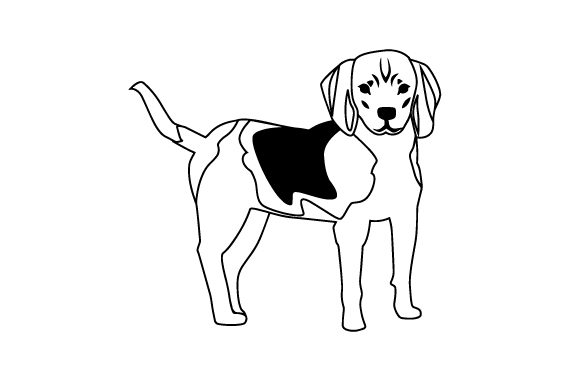 Download Free Treeing Walker Coonhound Svg Cut File By Creative Fabrica Crafts for Cricut Explore, Silhouette and other cutting machines.