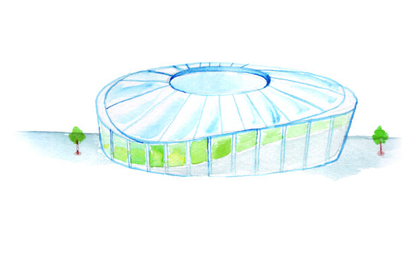 Football Stadium in Watercolor Style Sports Craft Cut File By Creative Fabrica Crafts