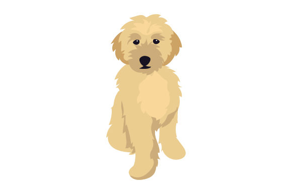 Blonder Goldendoodle Hunde Plotterdatei von Creative Fabrica Crafts